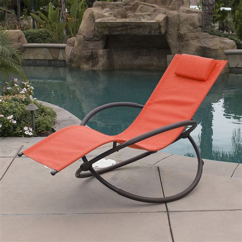 orbital foldable  gravity lounger chair rocking furniture outdoor chaise ebay