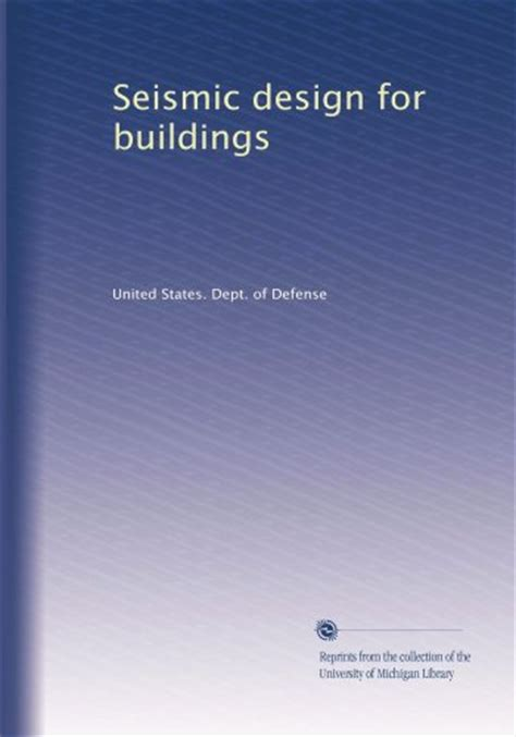 seismic principles books book seismic design for buildings engineer cafe