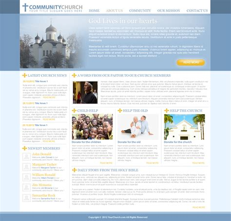 weebly church templates free joomla church template clayvillage