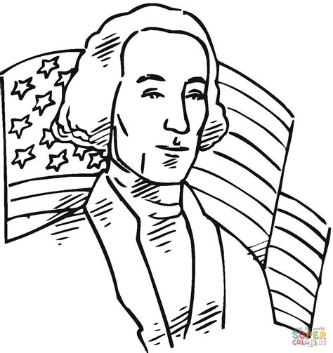 george washington first president of the usa coloring page