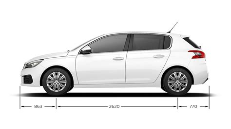 dimensions peugeot 308 new peugeot 308 technical and engine specifications