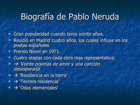 m s libros de pablo neruda el resumen power point pablo neruda