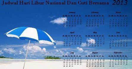 jadwal hari libur nasional dan cuti bersama 2013