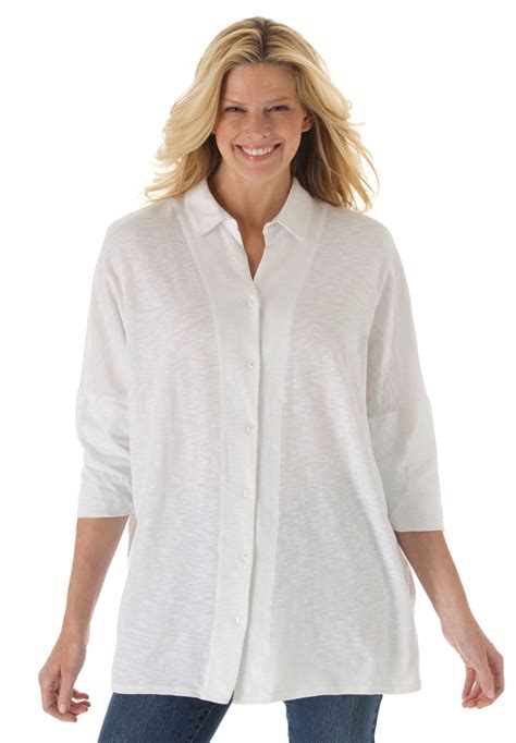 Xl Jumbo Bigsize Tunik Blouse Xl Jumbo Bigsize Big Size Bluss 2xl 10xl large size button front slub knit tunic tshirt big plus size 4xl xxxxl 5xl