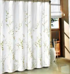 Fabric Shower Curtains With Valance Green Sprigs Fabric Shower Curtain