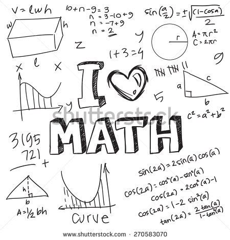 how to doodle in math algebra stock photos images pictures
