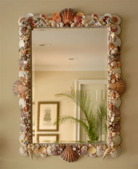 shell bathroom mirror sea shell art elegant shells