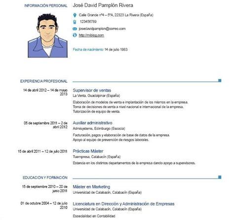 Cv Word by Ejemplos De Curriculum Vitae Europeo En Word