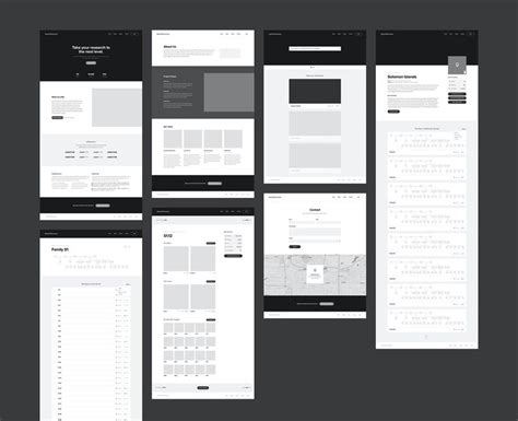 web layout wireframe wireframes for dental research website by adam butler ux