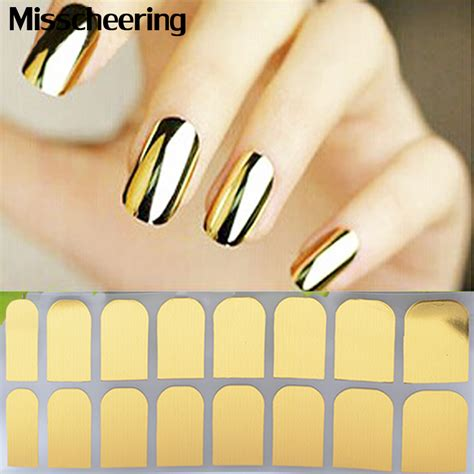 Nail Sticker Minx Nail 3 1sheet nail patch gold silver black minx smooth nail tips decal wraps cover designed