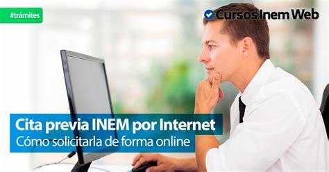 oficina virtual del inem cita previa inem por internet cursosinemweb es