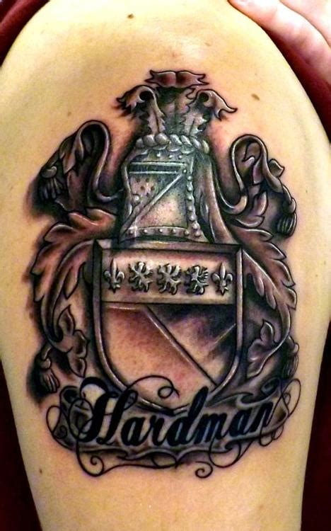 family crest tattoo designs shoulder family crest