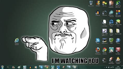 Im Watching You Memes - creative desktop backgrounds that poke fun at internet