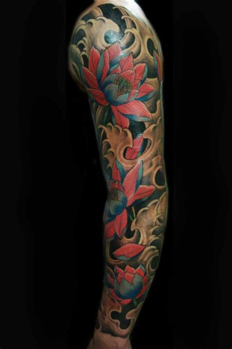 lotus flower tattoo sleeve designs 26 lotus tattoos on sleeve