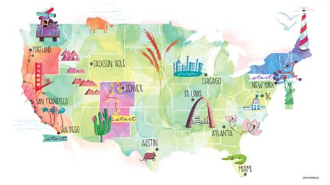 map your us trip top 3 summer road trips for yogis journal