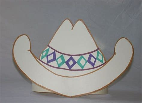How To Make A Paper Cowboy Hat - paper cowboy hat template http www janetsquires hat