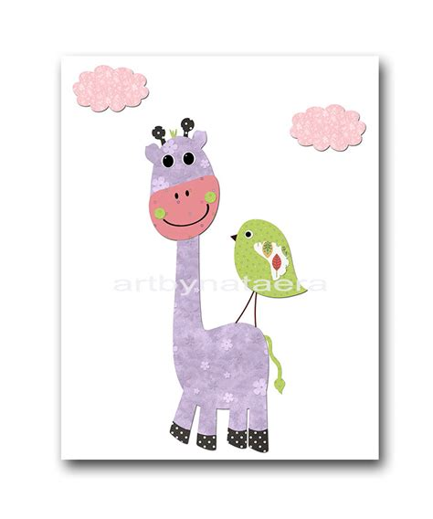 Giraffe Baby Decorations Nursery Giraffe Nursery Wall Baby Nursery Decor Baby