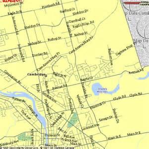 cambridge canada map cambridge ontario map