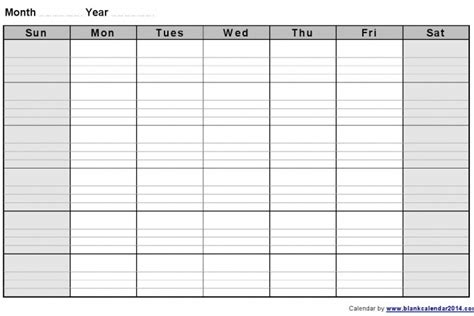 monday friday calendar template calendar printable template