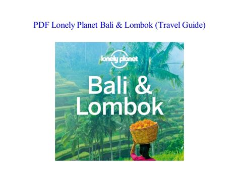Read Pdf Lonely Planet Bali Amp Lombok Travel Guide By
