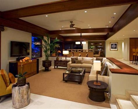 sunken living room cozy living room designs with fireplaces defined by sunken and raised floor areas