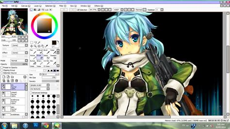 drawing and painting free shinon speed paint sword 2