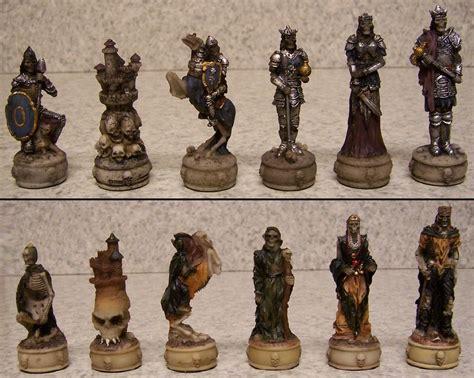 chess set pieces chess set pieces skeleton knights nib ebay