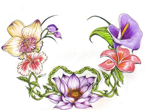 exotic flower tattoos 25 best ideas about tropical flower tattoos on