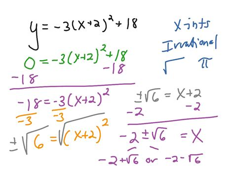 Solving Quadratic Equations By Taking Square Roots Worksheet by Showme Solving Quadratic Equations Using Square Roots
