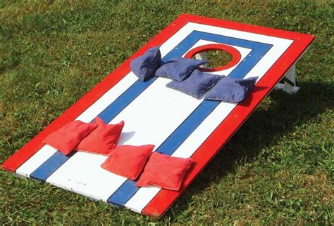 backyard bean bag toss game backyard multigenerational bean bag toss diy mother earth news