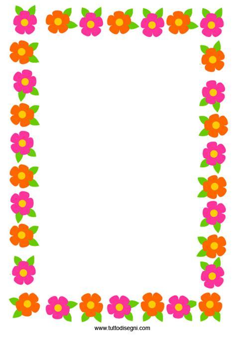 cornicette fiori cornicetta copertina con fiori colorati tuttodisegni