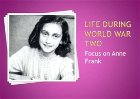 anne frank biography powerpoint anne frank seomra ranga