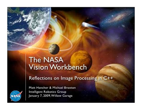the view intimate reflections and messengers books the nasa vision workbench reflections on image processing