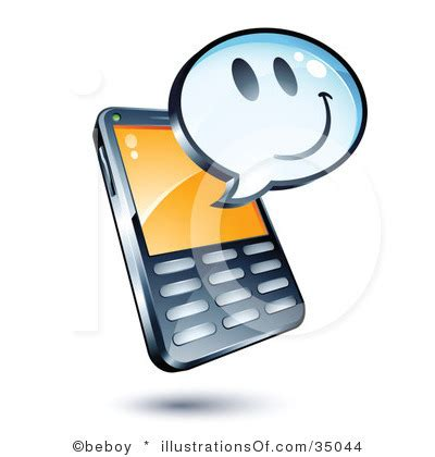 mobile phone texting text cliparts