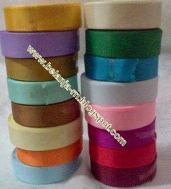 Souvenir Bukutamu Renda Emas Perak Cjc5 pita grossgrain ukuran 1 4 inch rp 17 000 roll