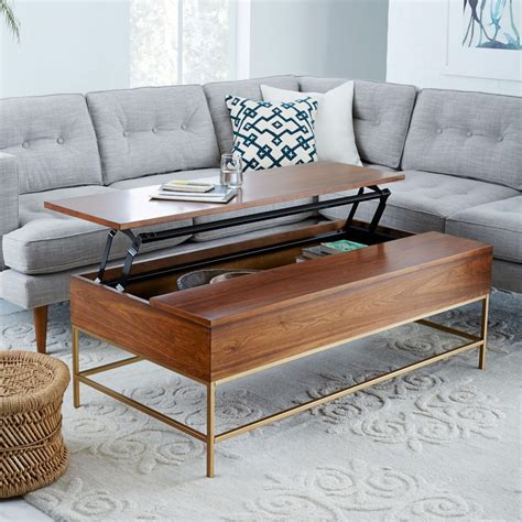 west elm coffee table storage 8 best coffee tables for small spaces