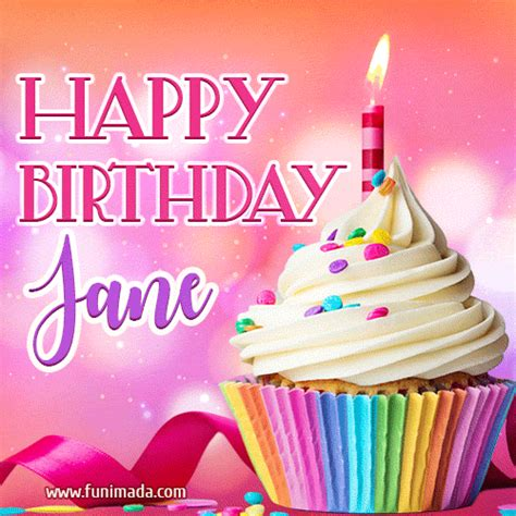 happy birthday jane lovely animated gif   funimadacom