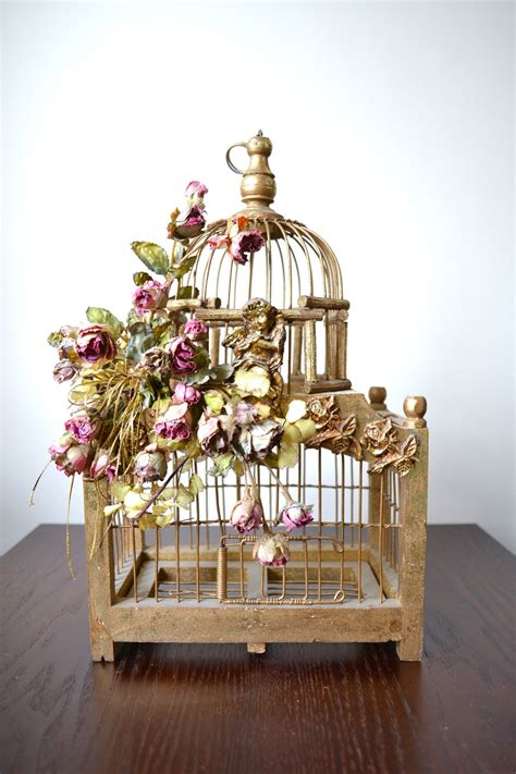 architectural metal bird cage decorative by