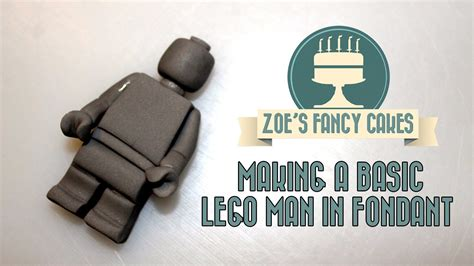 lego gumpaste tutorial how to make a basic lego man in fondant how to tutorial