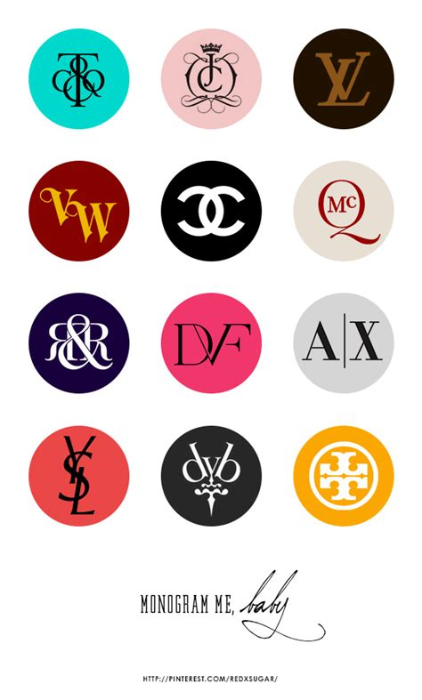 design label logo fashion brands monogram logos part 1 design print