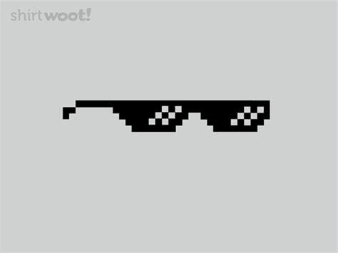 Pixel Sunglasses Meme - deal with it shirt woot