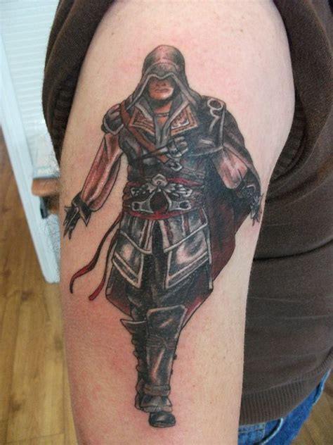 assassin face tattoo assassins creed tattoo by lianjmc on deviantart