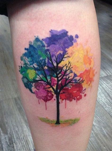rainbow watercolor tattoo best 25 watercolor tree ideas on