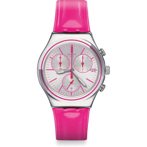 swatch ycs587 watch proud to be pink