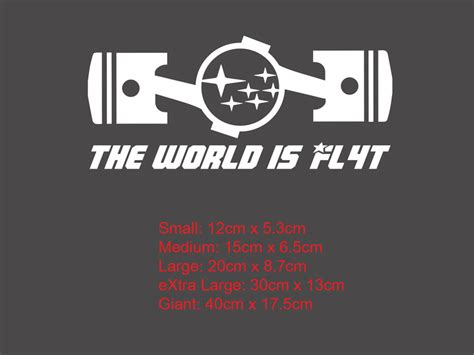 the world is flat 4 boxer pistons engine subaru vinyl