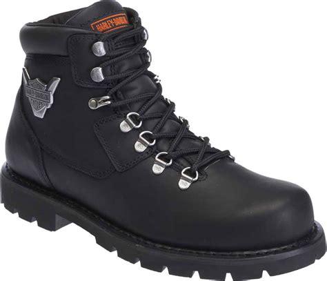 Harley Davidson 6295 Black Black Leather For harley davidson s glenmont black leather motorcycle boots d93306 ebay