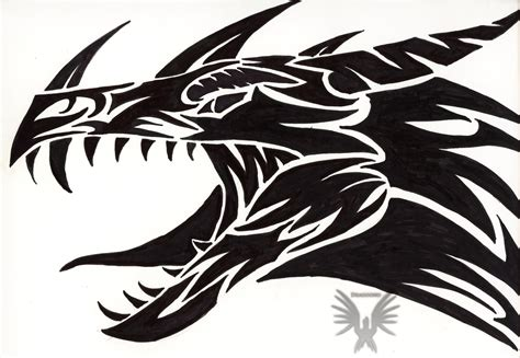 cool tribal dragon tattoos tribal by virensere on deviantart