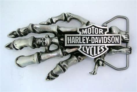 Gelang Logo Skull Hd Chain Stainless Steel harley davidson motorcycle knucklehead panhead skeleton skull belt buckle the harley davidson