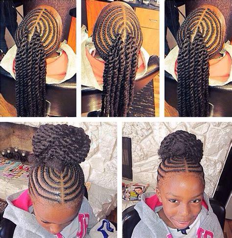 9 year old birthday hair stiyals bun with rope twist bangs shared by shaneria mosley