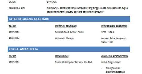 contoh membuat resume online oh contoh mudah membuat resume kerja yang disukai majikan